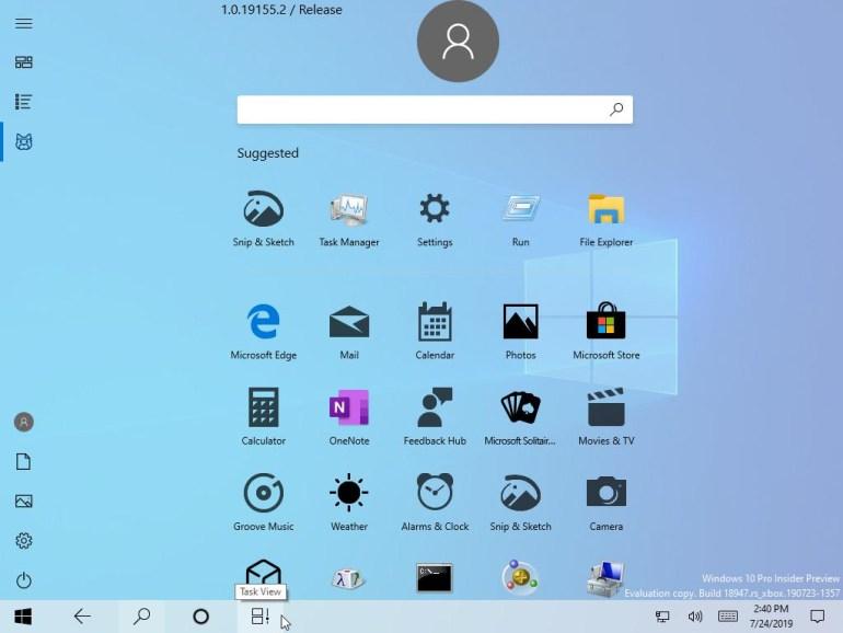 Microsoft случайно показала новое меню «Пуск» в Windows 10