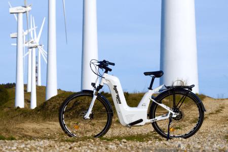 Водородный велосипед Alpha Bike имеет запас хода в 150 км