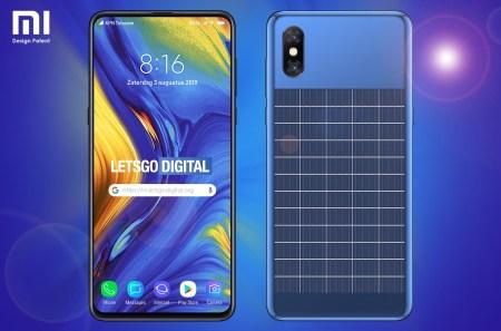 Xiaomi запатентовала безрамочный смартфон со встроенной солнечной батареей