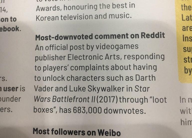Electronic Arts попала в «Книгу рекордов Гиннесса» за... самый заминусованный комментарий в истории Reddit