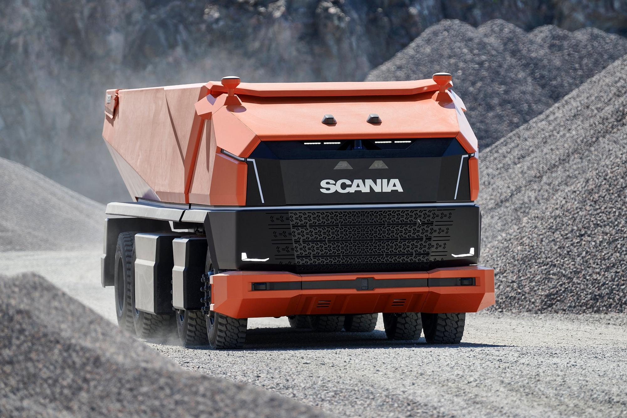 Шведы представили концепт автономного грузовика Scania AXL без кабины для работы на крупных закрытых площадках