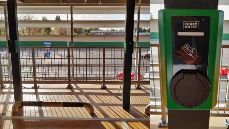 """В аэропорту """"Борисполь"""" обустроили 32 парковочных места с зарядками для электромобилей (оплата за стоянку и зарядку будет взыматься раздельно)"""