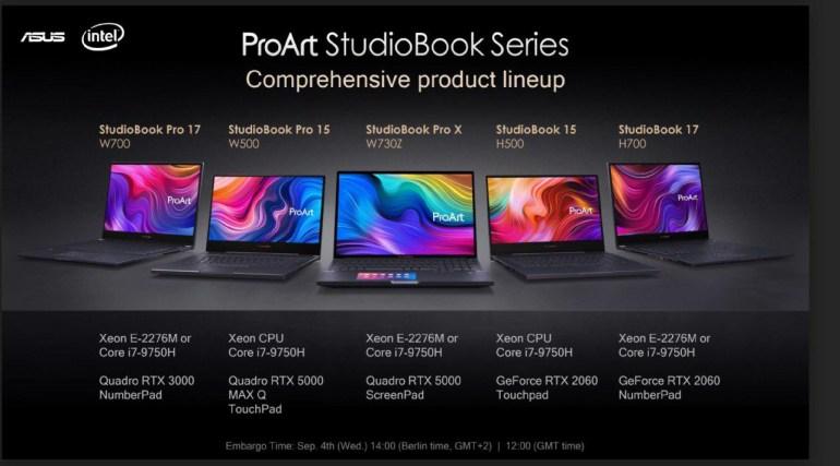 Подвинься, MacBook Pro. ASUS представила профессиональные ноутбуки StudioBook One и StudioBook Pro X с ускорителями Quadro RTX, CPU Intel Core i9/Xeon и высококачественными экранами