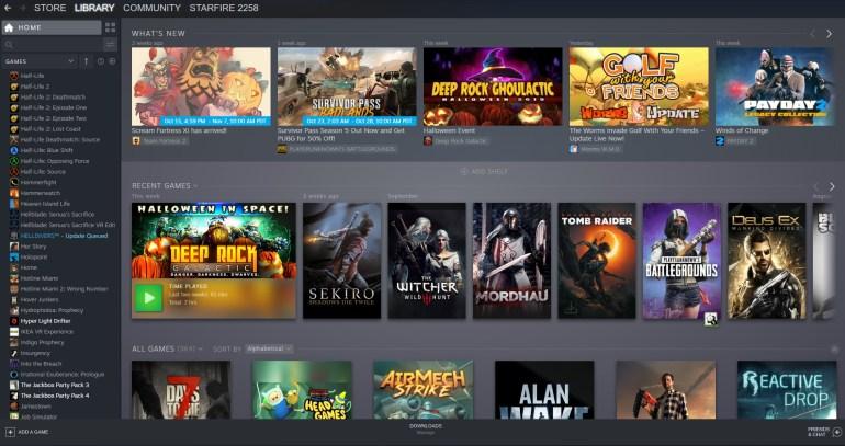 Valve запустила обновленный интерфейс библиотеки игр Steam