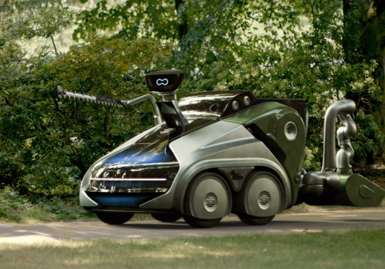 Немецкие инженеры из EDAG представили концептуальный модульный робомобиль CityBot, который в одно время возит пассажиров, а в другое - чистит улицы