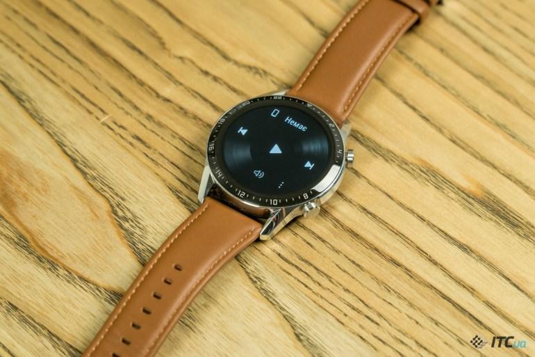 Huawei Watch GT2 управление музыкой