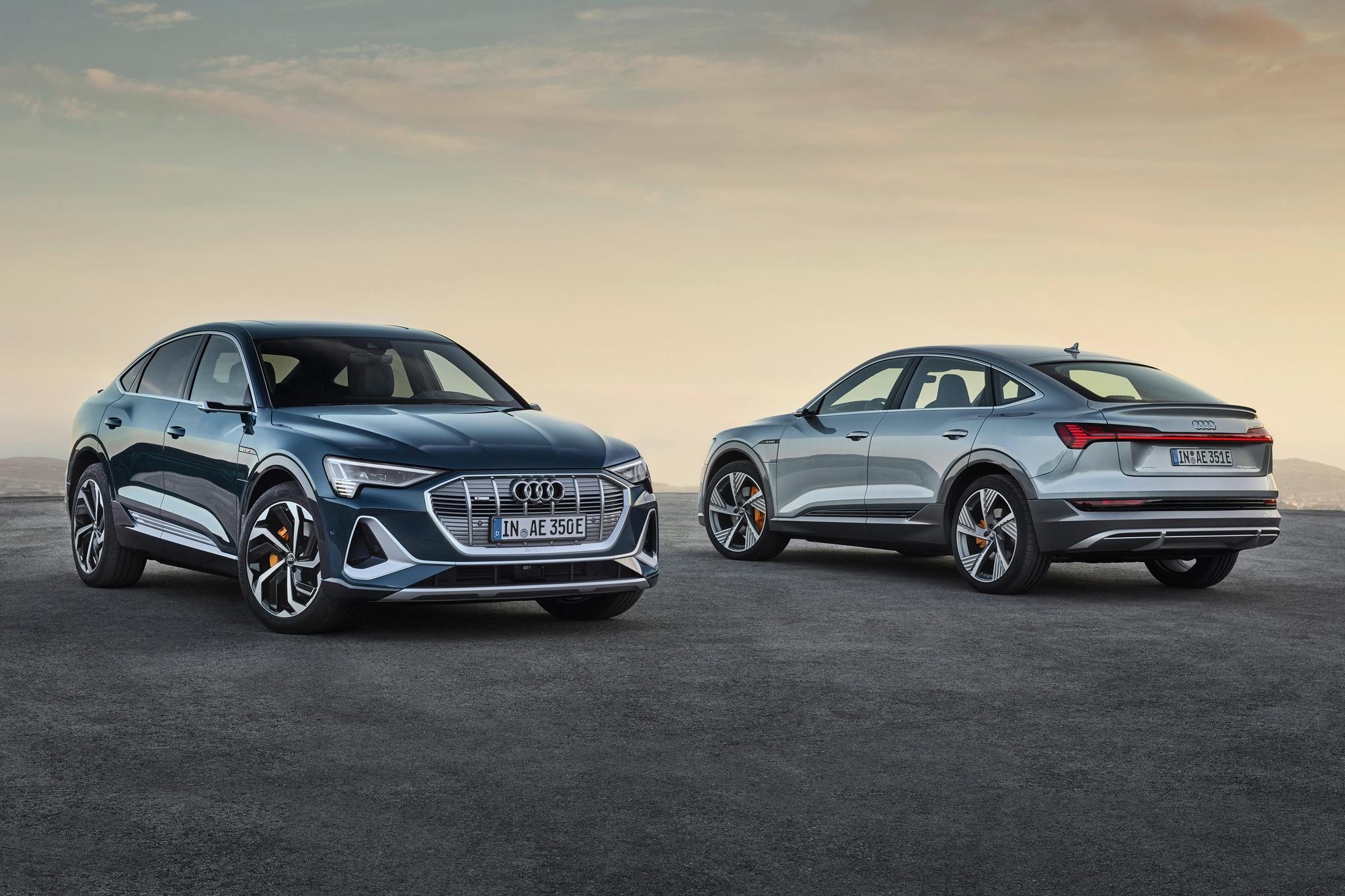 Немцы представили серийный электрический купе-кроссовер Audi e-tron Sportback с мощностью 300 кВт батареей 95 кВтч запасом хода 450 км и ценником от 71