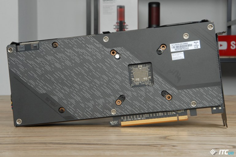 ASUS TUF Gaming X3 Radeon RX 5700 OC backplate