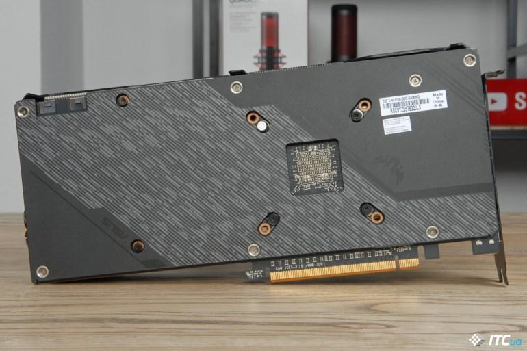 ASUS TUF Gaming X3 Radeon RX 5700 OC backplate