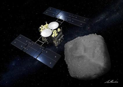 Японский зонд Hayabusa2 возвращается на Землю с образцами астероида