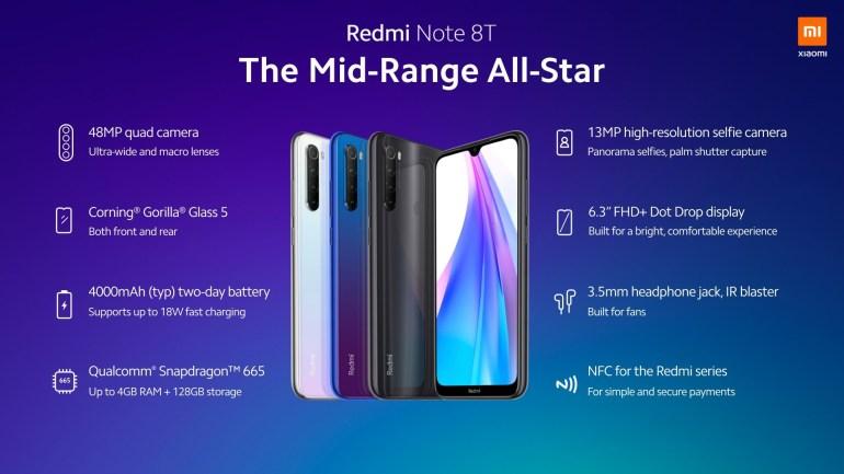 Смартфон Redmi Note 8T поступит в продажу в Украине с 14 ноября по цене 6000 грн