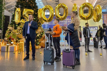 Международный аэропорт «Борисполь» в первый раз за свою историю обслужил больше 15 млн пассажиров в год