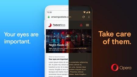 Новая Opera для Android получила «принудительный» ночной режим с уменьшенной яркостью и регулировку цветовой температуры