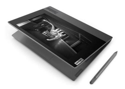 Lenovo показала ноутбук ThinkBook Plus с дополнительным E-Ink дисплеем на крышке