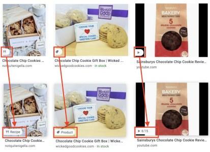 Поисковый сервис Google Images будет выводить больше сведений об изображениях — маркировать товары, рецепты и видео