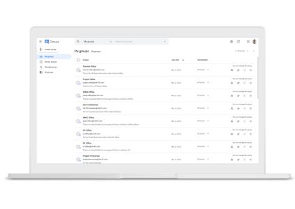 Сервис Google Groups ожидает редизайн и доработка функциональных возможностей