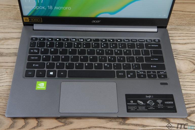 Обзор ноутбука Acer Swift 3 (SF314-57G-58KC)