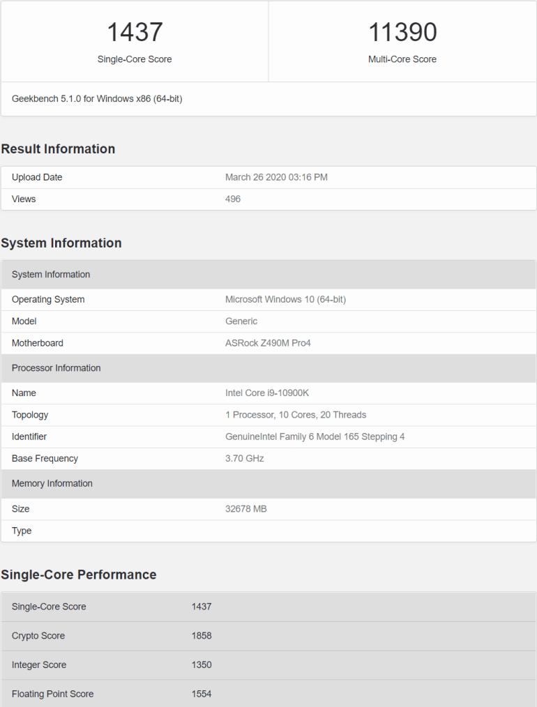Вместе с мобильными в апреле. Подтверждены сроки выхода новых настольных CPU Intel Core 10-го поколения (Comet Lake-S)