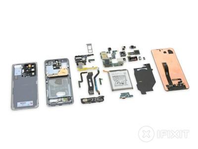 Разборка Samsung Galaxy S20 Ultra показала крупный 108-Мп сенсор и перископ с оптической стабилизацией