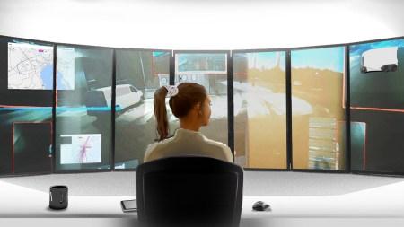 Шведская компания Einride показала, как выглядит рабочее место оператора, удаленно управляющего автономными электрогрузовиками T-Pod [видео]
