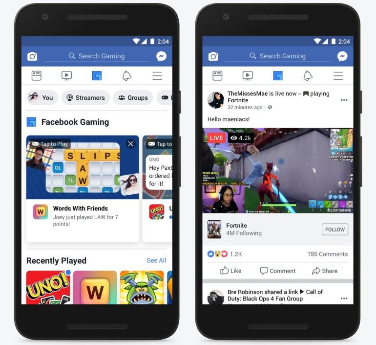 Facebook готовится запустить игровое стриминговое приложение Facebook Gaming