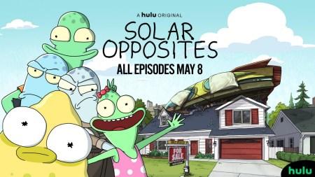 Анимационный сериал Solar Opposites от авторов «Рика и Морти» побил рекорд просмотров на Hulu, более 40% зрителей посмотрело первый сезон «запоем» в первые два дня показа