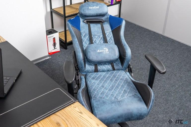 Обзор игрового кресла AeroCool Duke Steel Blue