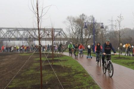 Вдоль «Новоирпенской трассы» начали строить велодорожку, которая свяжет Киев и Ирпень. Затем ее планируют продлить до Житомирской и Варшавской трасс