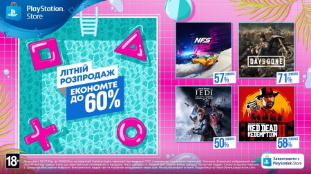 Сегодня стартовала «Летняя распродажа» в PlayStation Store со скидками на игры до 60%