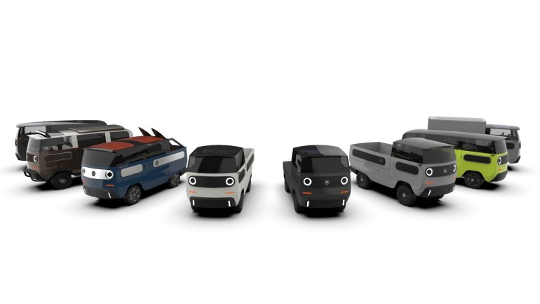 Немцы разработали модульный Lego-электромобиль eBussy с запасом хода до 800 км по цене от €15,800, на его основе можно собрать более 10 различных вариантов модели