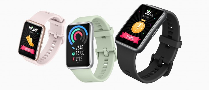 Умные часы Huawei Watch Fit получили 1,64-дюймовый AMOLED дисплей и автономность до 10 дней