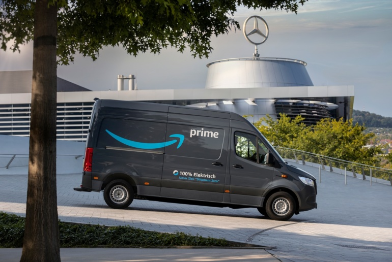 Amazon заказала у Mercedes 1800 электрических грузовых фургонов eVito и eSprinter. Их начнут использовать для доставок в Европе уже в 2020 году