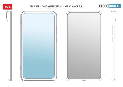 TCL запатентовала смартфон с невидимыми камерами