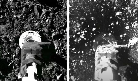 Видео дня: OSIRIS-REx проводит забор грунта с околоземного астероида Бенну