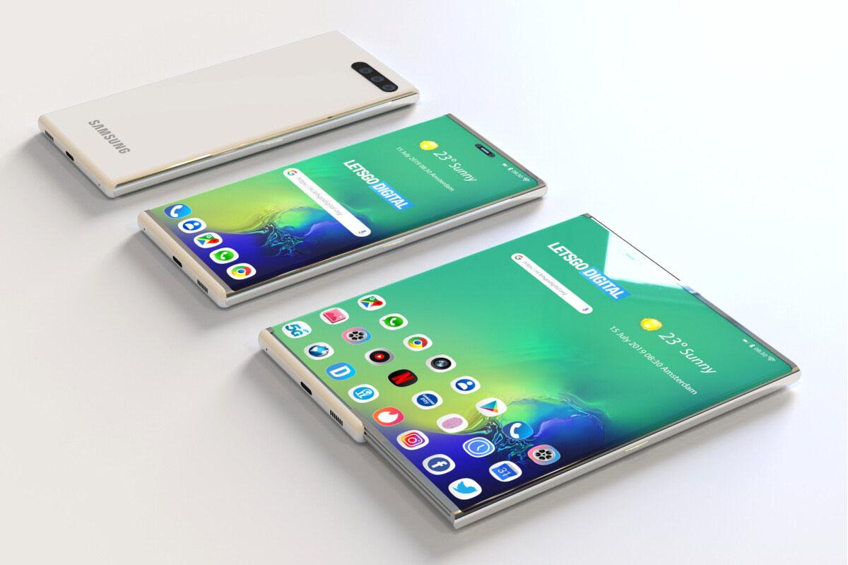 В 2021 году Samsung может выпустить свой первый смартфон со сворачиваемым дисплеем