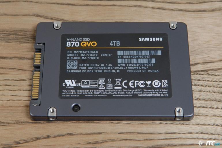 Обзор накопителя Samsung 870 QVO 4 ТБ: объемный вопрос