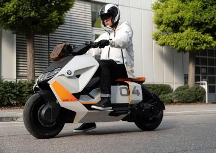 BMW представила концепт городского электрического скутера BMW Motorrad Definition CE 04