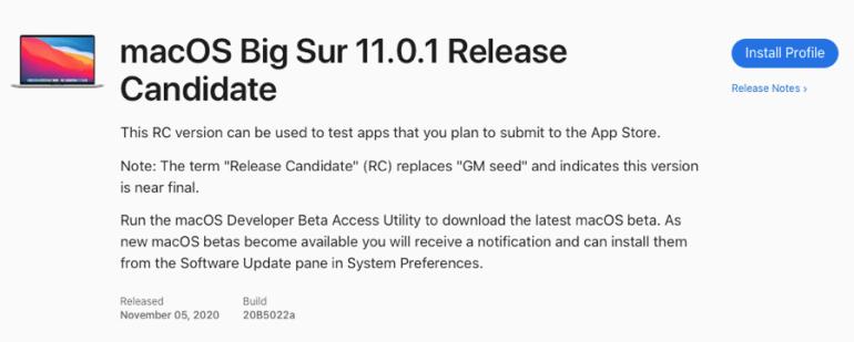 Вышли обновления iOS 14.2, iPadOS 14.2, watchOS 7.1 и macOS 11.0.1 Big Sur Release Candidate