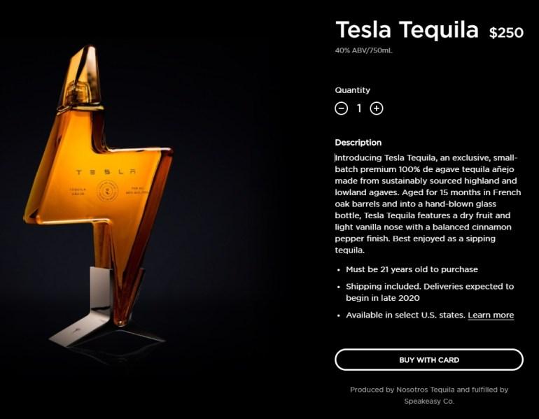 Tesla всё-таки выпустила брендированную текилу — всю первую партию раскупили за пару часов