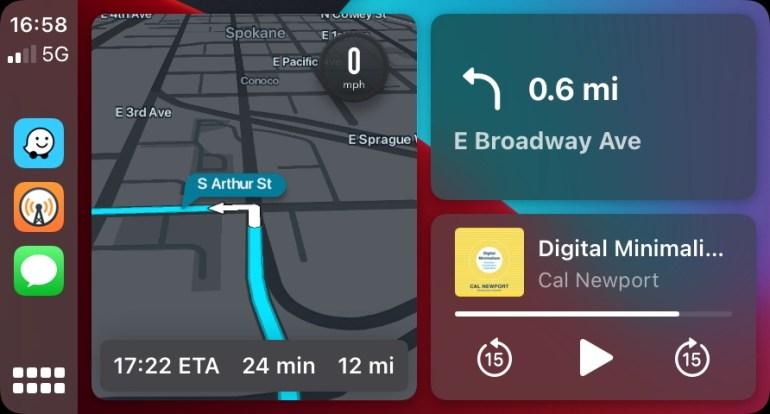 Waze теперь можно вынести на главный экран Apple CarPlay (и удобно следить за пробками и камерами видеофиксации)