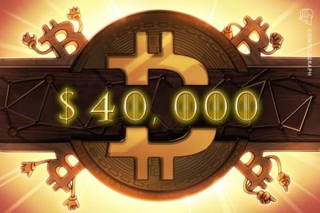 Стоимость биткоина впервые превысила 40 тысяч долларов — за последние сутки курс вырос на 5 тысяч долларов