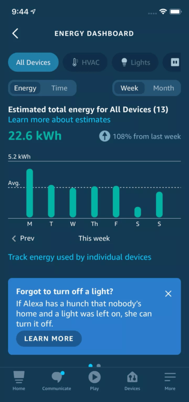 Amazon Alexa теперь может выключать свет по своему усмотрению