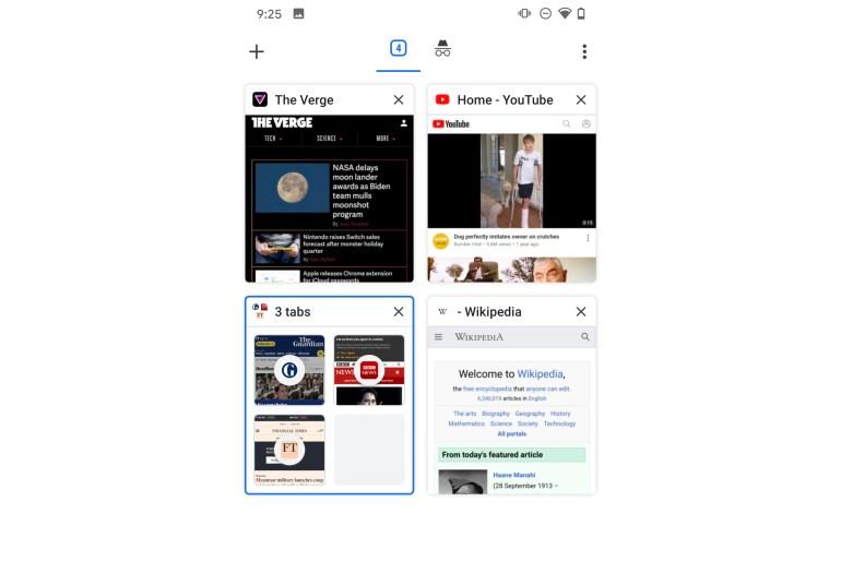 Chrome на Android получил функцию группировки вкладок и новый интерфейс с отображением в виде сетки (как его отключить)