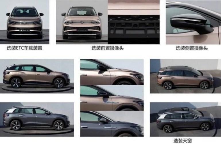 В сеть попали первые фотографии электромобиля VW ID.6, созданного на основе концепта ID. ROOMZZ