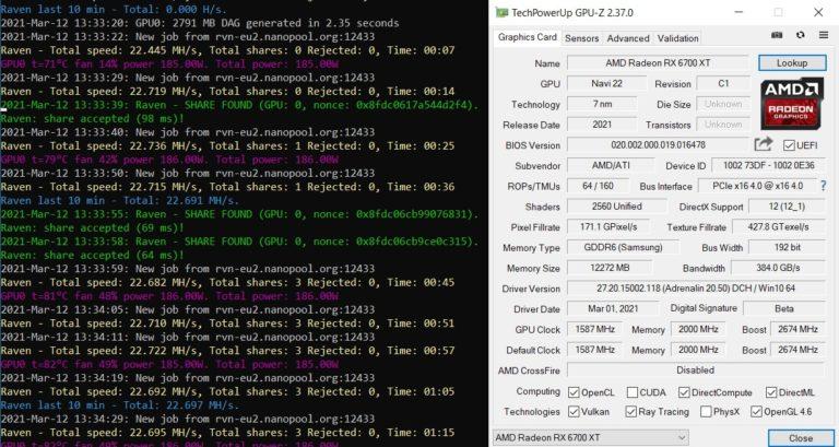 В майнинге Ethereum новая видеокарта AMD Radeon RX 6700 XT оказалась на 25% медленнее, чем модель прошлого поколения Radeon RX 5700 XT