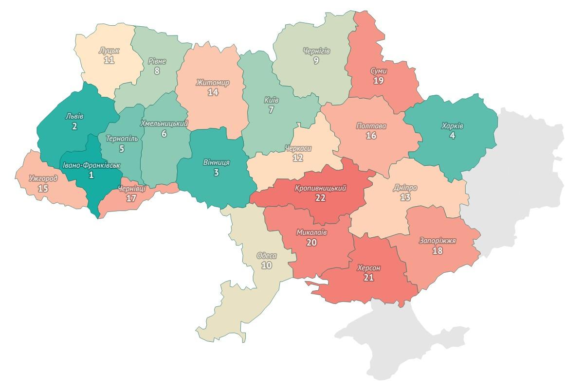 DOU: Детальний аналіз українських міст за зручністю для роботи і проживання ІТ-спеціалістів [інфографіка] - ITC.ua