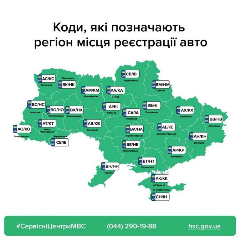 МВС: Сервісні центри видаватимуть автомобільні номери лише своєї області, незалежно від місця прописки власника