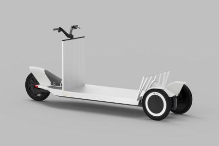 Polestar Re:Move — трехколесный грузовой электросамокат для служб курьерской доставки (грузоподъемность — 275 кг)