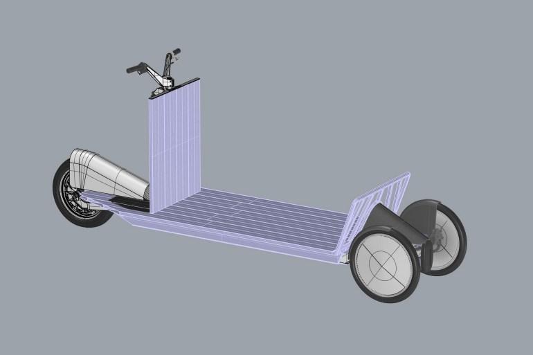 Polestar Re:Move - трехколесный грузовой электросамокат для служб курьерской доставки (грузоподъемность - 275 кг)