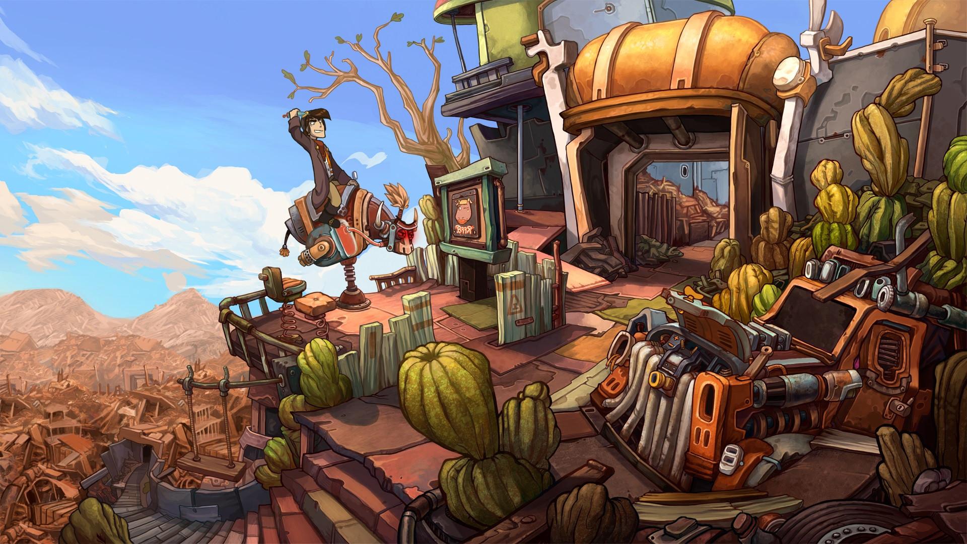 В Epic Games Store бесплатно раздают сразу три игры: Deponia: The Complete Journey, Ken Follett's The Pillars of the Earth и The First Tree - ITC.ua